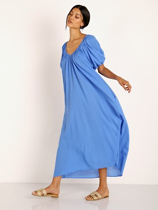 9seed Sand Hill Cove Puff Sleeve Maxi Moroccan Blue