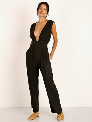 Model in black Stillwater San Ynez Jumpsuit