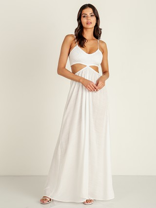 Indah Innocence Cut Away Maxi White