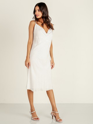 Indah Montauk Cowl Neck Dress White