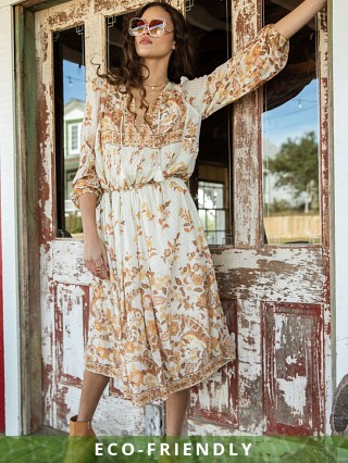 Spell & The Gypsy Hendrix Boho Dress Cream