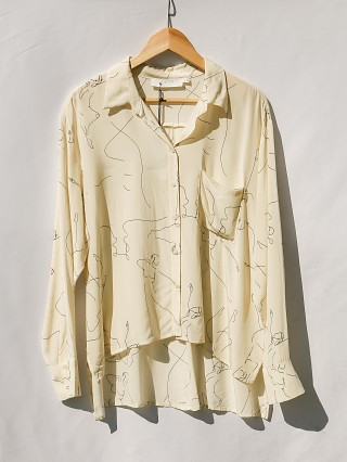 Second Chance ASTR the Label Agnes Ballet Sketch Button Down