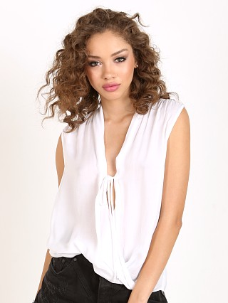 Bella Dahl Sleevesless Drape Front White