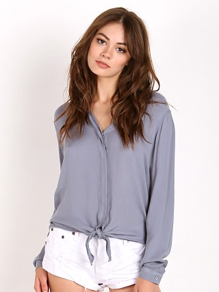 Bella Dahl Tie Front Shirt Morning Fog