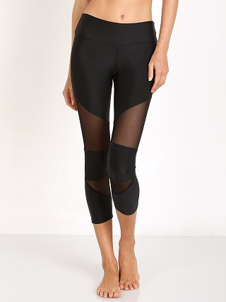Onzie Cut Out Capri Black Mesh