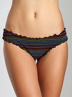 Vitamin A Silver Rio Ruffle Scoop Bikini Bottom Sienna