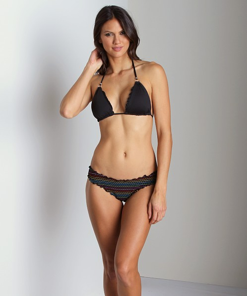 CA by Vitamin A Rio Ruffle Scoop Bikini Bottom Sienna