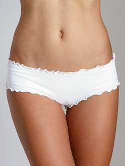 Vitamin A Silver Rio Ruffle Hotpant Bikini Bottom White Hot