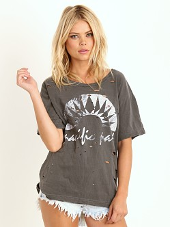 Free People Boyfriend Tee Graphic Charcoal