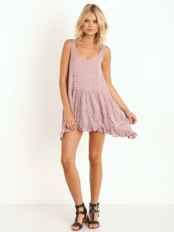 Free People Voile Trapeze Slip Misty Pink