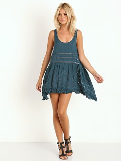 Free People Voile Trapeze Slip Deep Turquoise
