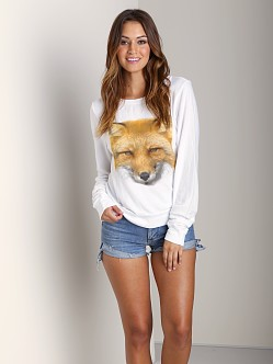 Wildfox Couture Fox Sweater White