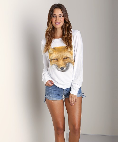 WILDFOX Fox Sweater White