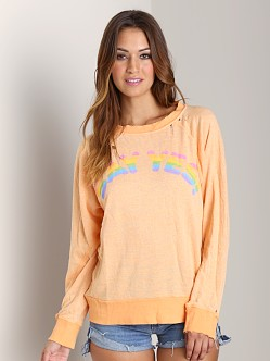 Wildfox Couture Say Yes Destroyed Sweater Happiness