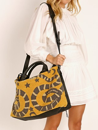 Cleobella Dree Weekender Bag Yellow Snake