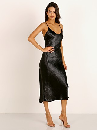 LNA Clothing Shine Slip Dress Black
