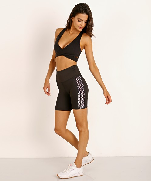 Beach Riot Sparkle Bike Short Black