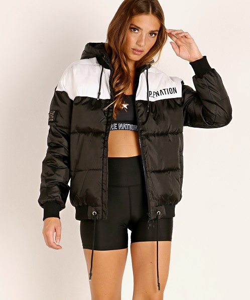 PE NATION Lead Right Puffer Jacket Black