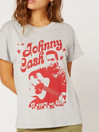 Daydreamer Johnny Cash Tee Heather Grey