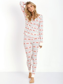 WILDFOX Fox Print Ski Bunny Set