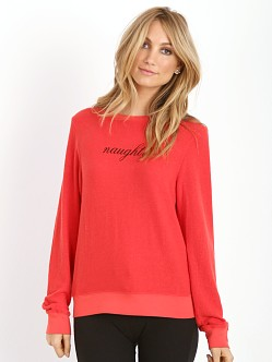 WILDFOX Naughty Baggy Beach Jumper Hot Lipstick