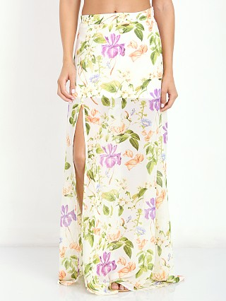 Show Me Your Mumu Mick Slit Maxi Skirt Flower Press