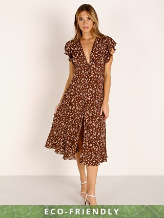 Auguste the Label Cleo Sunday Midi Dress Brown