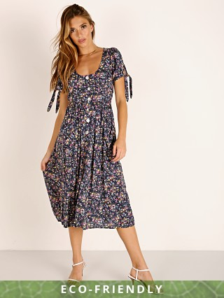 Auguste the Label Lola Meadow Midi Dress Navy