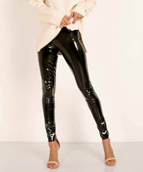 Commando Faux Patent Leather Legging Black