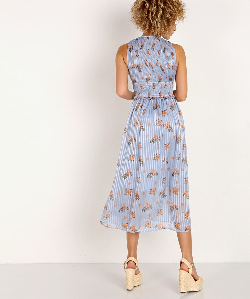 Astr The Label Miranda Dress Blue Peach Floral Acdr95030b