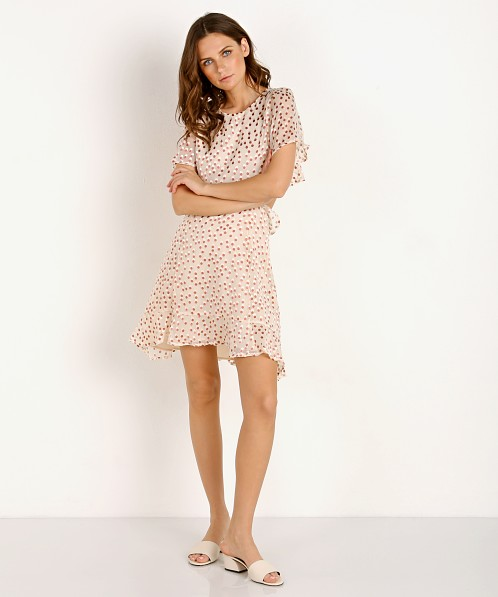ASTR the Label Elise Dress Cream Clay Dot