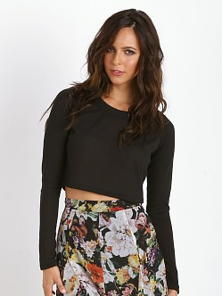 Show Me Your Mumu Cher Crop Sweater Black
