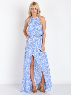 Show Me Your Mumu Heather Halter Dress Sea Breeze