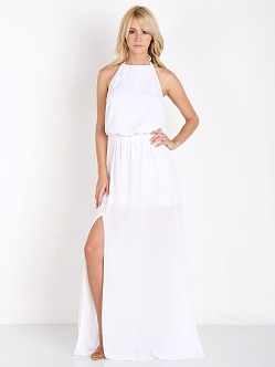 Show Me Your Mumu Heather Halter Dress White Crisp