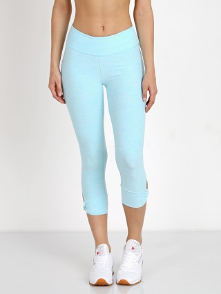 Beyond Yoga Twist and Shout Capri Legging White Tahiti Teal