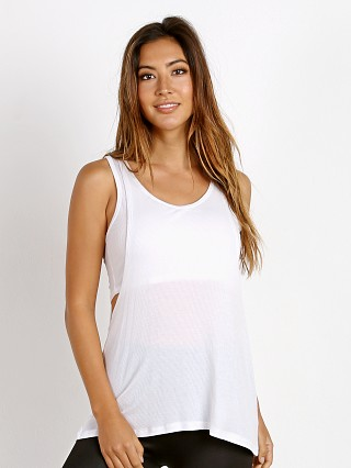 Beyond Yoga On and Off Ribbed 2-Fer Tank White