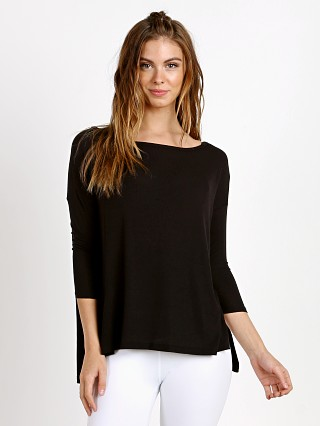 Beyond Yoga On and Off Ribbed Boxy Tunic Black