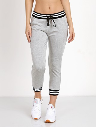 Beyond Yoga Varsity Cropped Sweatpant Heather Gray