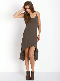 Cleobella Elise High Low Dress Charcoal