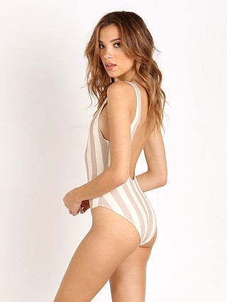 Solid & Striped The Anne Marie Bathing Suit Nude / Cream Stripe