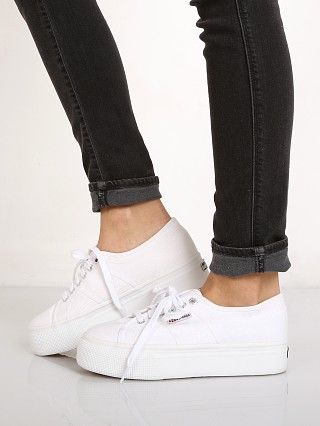 Superga Line Up & Down Platform White