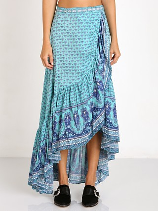 Spell Sunset Road Wrap Skirt Aqua