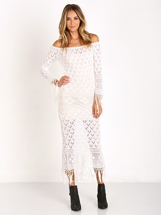 Spell Leila off the Shoulder Maxi White
