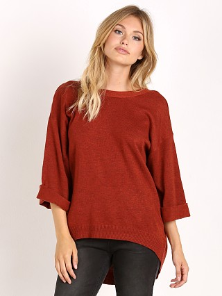 MinkPink Start Over V Neck Knit Brick