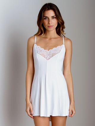 Only Hearts So Fine With Lace Chemise White