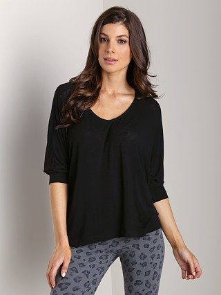 Splendid Drapey Lux Dolman Sleeve Top Black