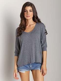 Splendid Drapey Lux Dolman Sleeve Top Shadow