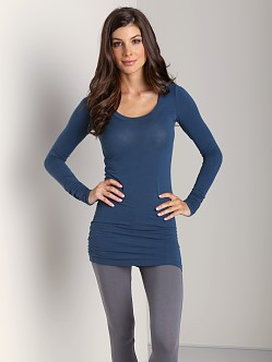 Splendid Layers Long Sleeve Top Deep Teal