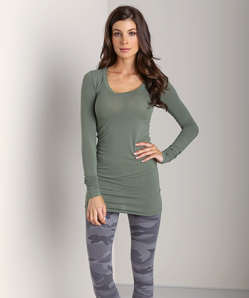 Splendid Layers Long Sleeve Top Camo