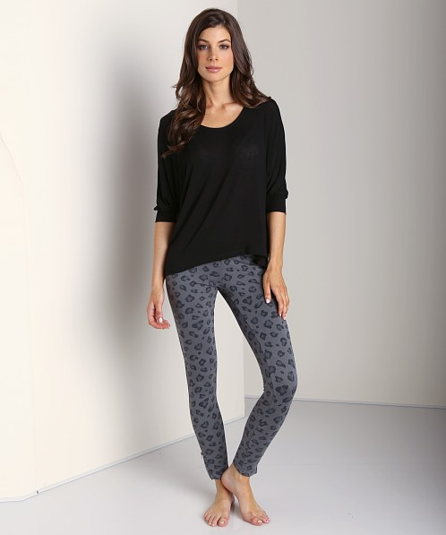 Splendid Novelty Leggings Leopard River Rock
